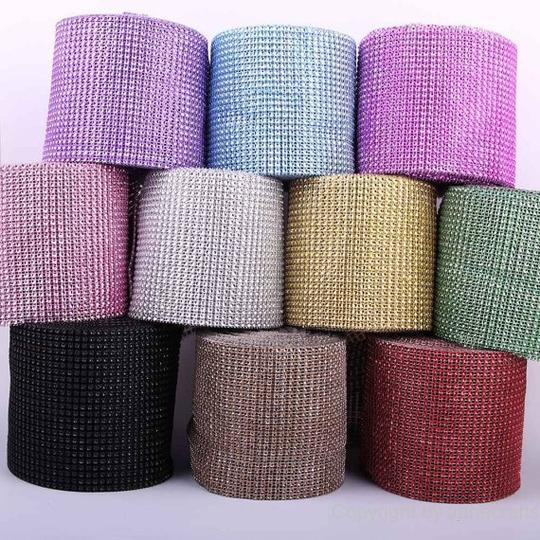 Red Hot Diy Custom Fit - 24 Rows X 30ft Table Napkin Ring Bing Bing 8 Colors Available Image 1