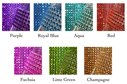 Red Hot Diy Custom Fit - 24 Rows X 30ft Table Napkin Ring Bing Bing 8 Colors Available Image 7