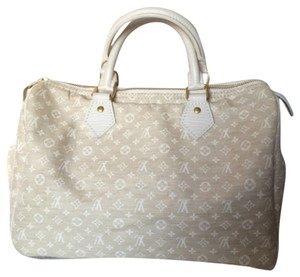 Louis Vuitton Lv Monogram Mini Lin Speedy Cotton Linen Speedy 30 Satchel in Dune