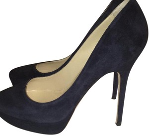 Jimmy Choo Dark Blue Platforms