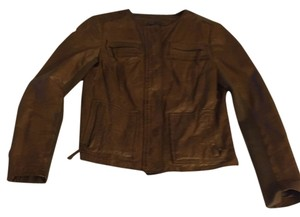 Vince Brown leather Leather Jacket