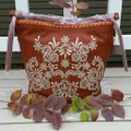 Isabella Fiore Embroidered Leather Tassels Hobo Bag Image 4
