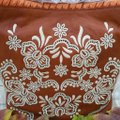 Isabella Fiore Embroidered Leather Tassels Hobo Bag Image 6
