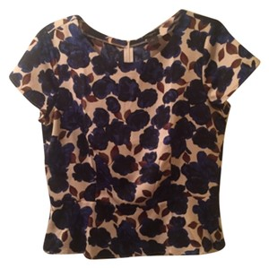 Ann Taylor Top Blue floral