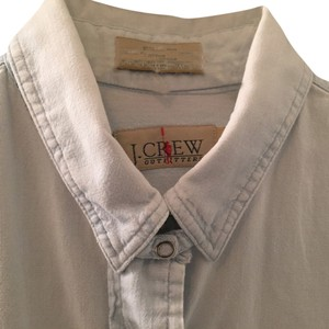 J.Crew Chambray Boyfriend Shirt; Vintage Button Down Shirt Chambray Blue
