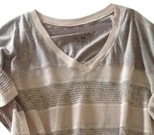 Free People Top Taupe Combo