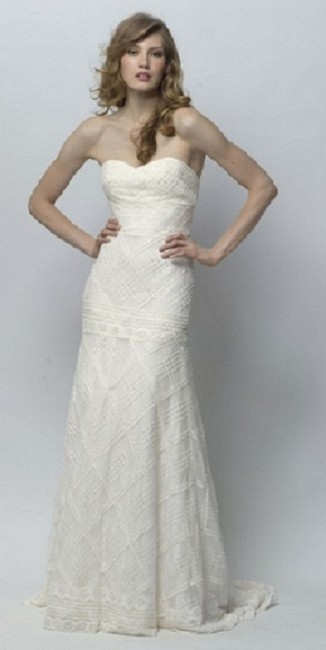 Item - Ivory Lace Emerson Style #18320 Casual Wedding Dress Size 6 (S)