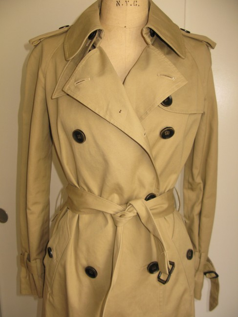 Rogan Lined Burberry Lanvin Barneys New York Saint Laurent Celine Trench Coat