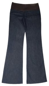 Alvin Valley Date Night Night Out Casual Wide Denim Flare Leg Jeans-Dark Rinse