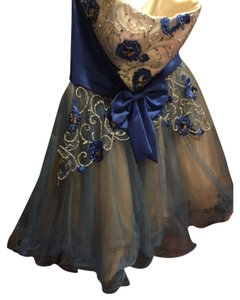 Cinderella Ball Blue Gold Yellow Dress