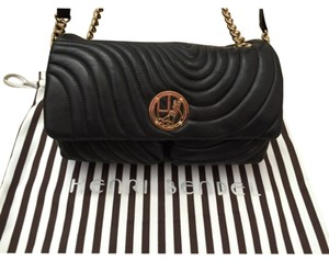 Henri Bendel Quilt Chanel Gold Chain Luxurious Soft Supple Leather Beauty Shoulder Bag