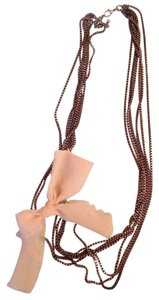 American Eagle Outfitters Cream Bow Necklace
