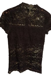 bebe Lace Sexy Dressy Summer Spring Business Small Top Black