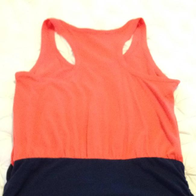 Joie short dress Orange/navy on Tradesy