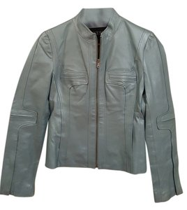 Guess Leather Blazer Summer Light Blue Leather Jacket