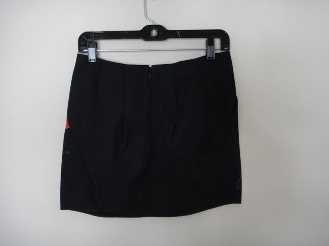 Marni Mini Flower Floral Mini Skirt Black