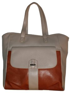 Nine West Double Strap Tote in Tan and Burnt Orange
