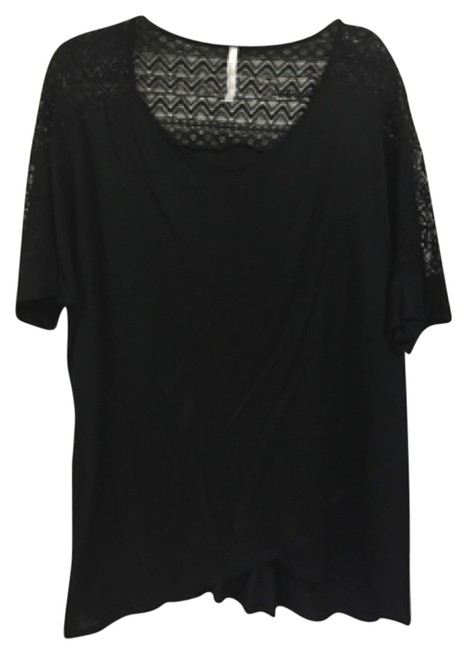 Item - Blac (No Tag) with Lace Back Top. 3x Blouse Size 26 (Plus 3x)