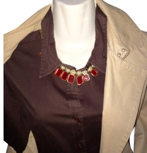 Rue 21 Button Down Shirt brown