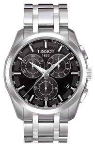 Tissot TISSOT COUTURIER MEN'S QUARTZ CHRONOGRAPH BLACK DIAL WATCH WITH STAINLESS STEEL BRACELET MODEL: T0356171105100