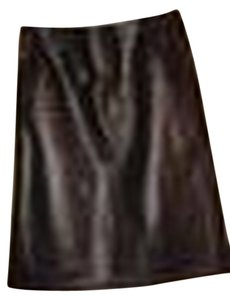 Boutique Europa Leather Skirt Black