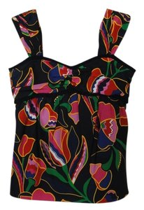 Marc by Marc Jacobs Vintage Floral Silk Top Black