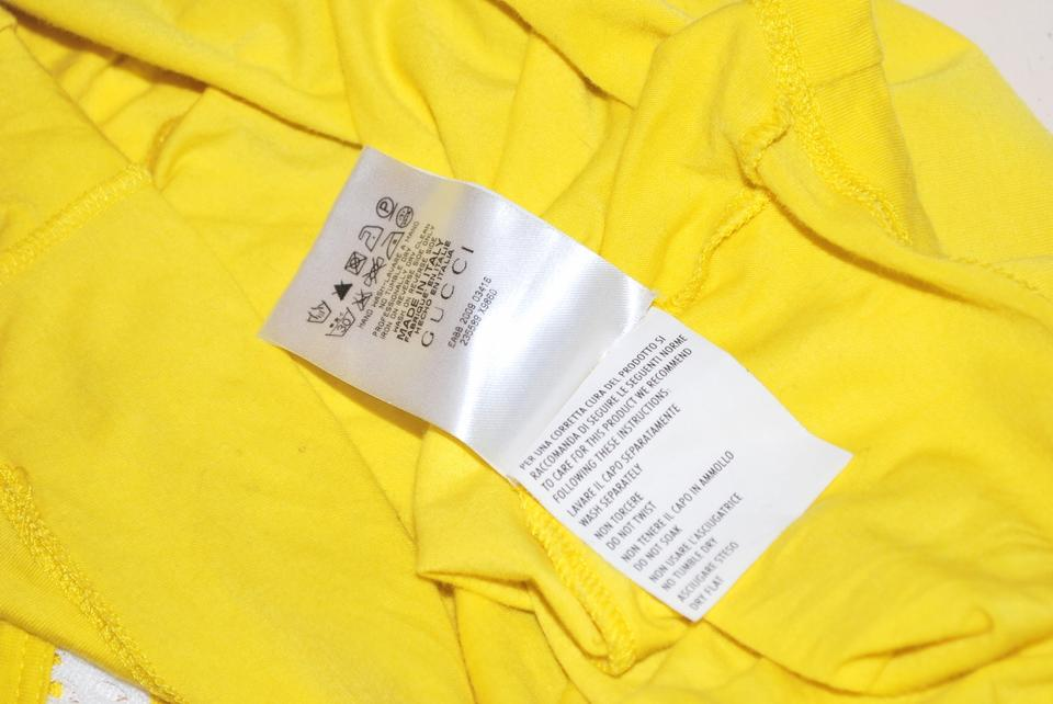 2f2d03b12e7 Gucci Italy Women Used Condition Size Xs T Shirt YELLOW Image 7. 12345678