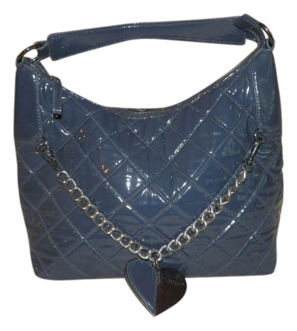 TOSCA BLU Slate Blue Pvc and Lining Is Polyester Shoulder Bag TOSCA BLU Slate Blue Pvc and Lining Is Polyester Shoulder Bag Image 1