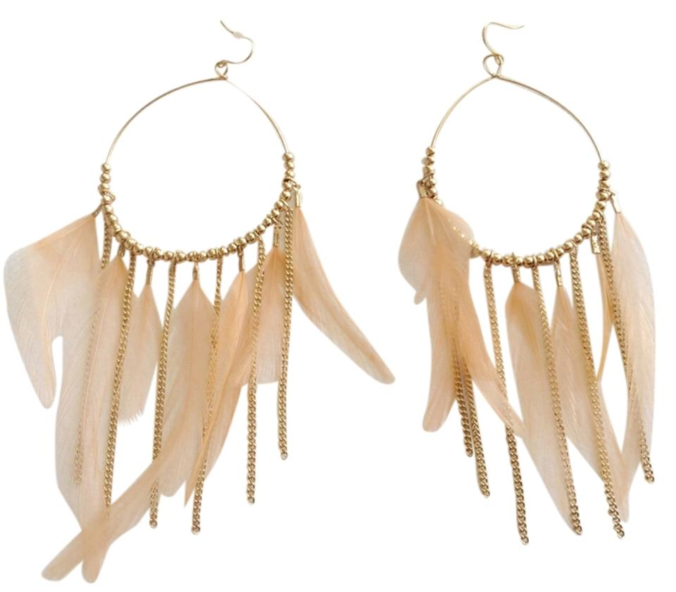 peach coffee drop ip light earrings