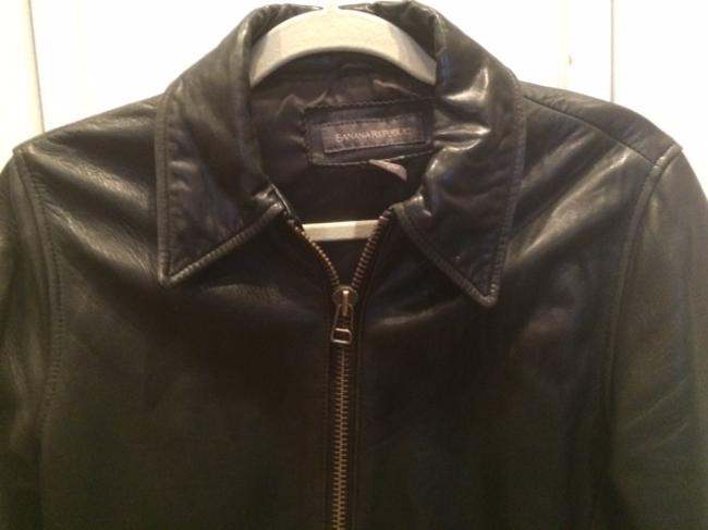 Banana Republic Leather Moto Motorcycle Jacket Image 1