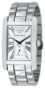 Emporio Armani EMPORIO ARMANI STAINLESS STEEL BRACELET WATCH WITH SILVER DIAL AR0145