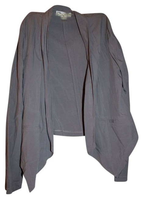 Item - Gray Collared Cover Up Pull Over Longsleeve Cardigan Size 10 (M)