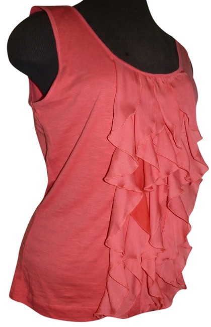 Item - Seaside Coral Sleeveless Ruffle Tank Top/Cami Size 8 (M)