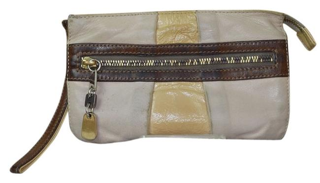See by Chloé Zippy Wallet Beiges & Brown Leather Wristlet See by Chloé Zippy Wallet Beiges & Brown Leather Wristlet Image 1
