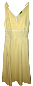 Paradigm short dress Pale yellow & white on Tradesy