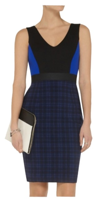 Preload https://img-static.tradesy.com/item/8449897/bailey-44-black-and-blue-new-blackblue-large-knee-length-workoffice-dress-size-12-l-0-2-650-650.jpg