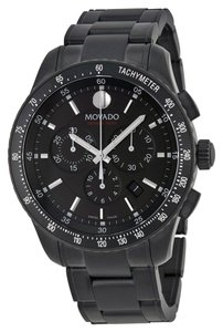Movado Movado Series 800 Chronograph Black PVD Stainless Steel Mens Watch 2600107