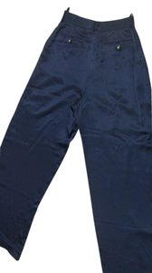 Chanel Silk Relaxed Pants Blue