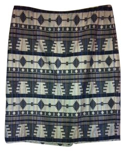 Ann Taylor Textured High Waisted Skirt multi