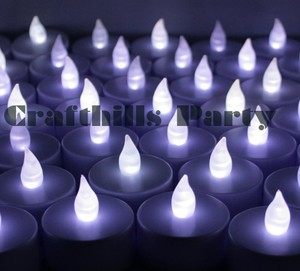 New Lot 48 Tea Led White Candle Flicker Light Flameless Weeding Party Home Table Decorate Decoration Tealights