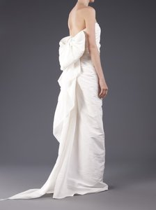 Lanvin Ivory Silk Wedding Dress Size 4 S