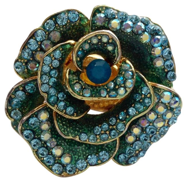 Turquoises and Gold Xxl Rose Ring Turquoises and Gold Xxl Rose Ring Image 1