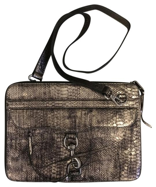 Item - Mac Snake-embossed Padded with Detachable Strap Bronze Leather Laptop Bag