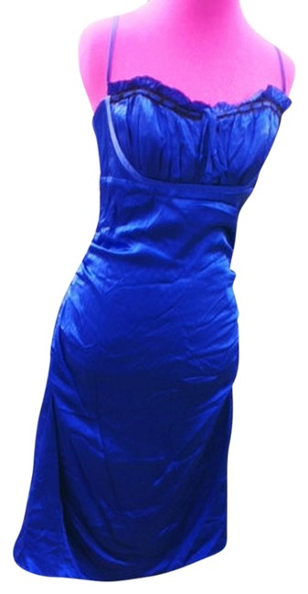 Betsey Johnson Silk Ruched Date Girls Sexy Classic Chic Spaghetti Straps Designer Bright Dress