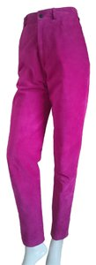 Lanna Suede Suede Jeans High Waist Jeans 80s Jeans High Waisted Jeans Jeans Suede Suede Trousers Skinny Pants Pink