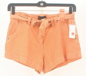 Other Ijeans By Buffalo X Stripe Belted B128 Mini/Short Shorts Orange Gray