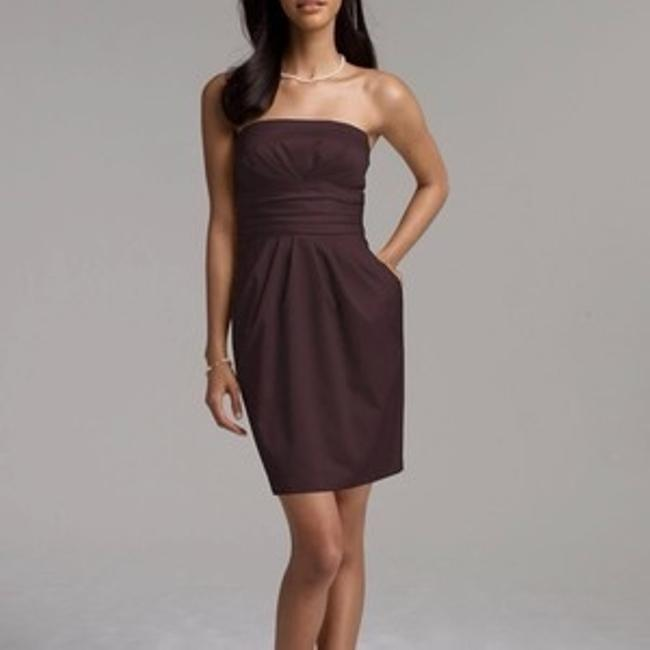 """Item - Brown #39261 """"Short Strapless Cotton Sateen"""" Bridesmaid/Mob Dress Size Other"""