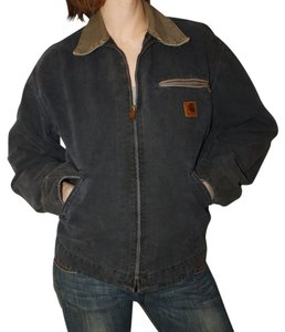 Carhartt Jacket Denim Cotton Boyfriend Coat