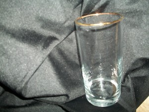 Clear Water Glasses With Gold Trim