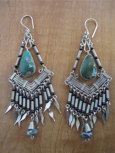 Chrysocolla Boho Necklace Earring Set Boho Necklace Earring Chrysocolla Set